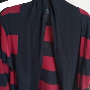 Women's INC Black and Red Cardigan - Large